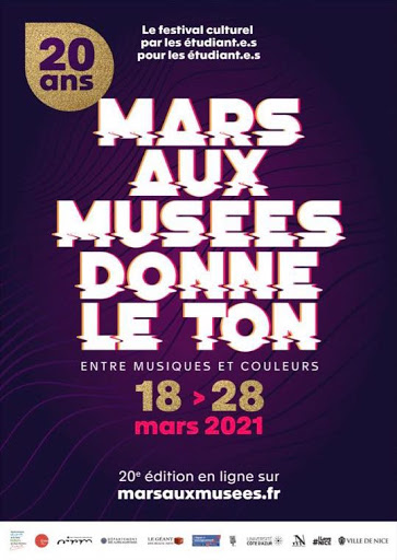 Affiche de Mars aux musées 2021 à Nice